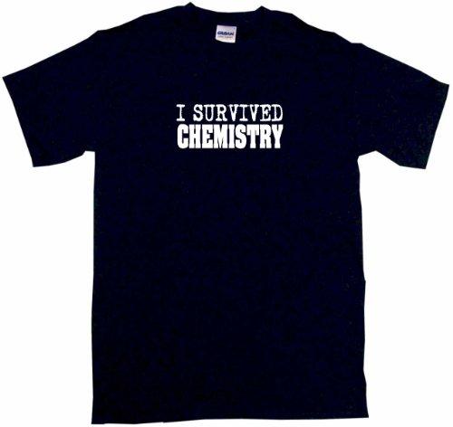 I Survived Chemistry Men'S Tee Shirt Medium-Black
