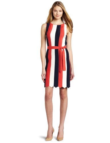 Trina Turk Women's Thurlow Stripes Dress, Navy Multi, Small