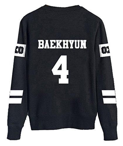 KPOP EXO Black Sweater Long Sleeve Hoody Pullover Sweatershirt (Big Bang Kpop Shirt compare prices)