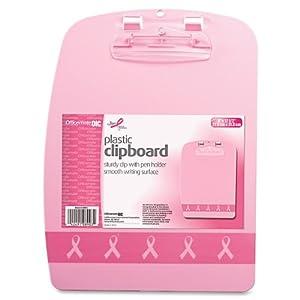 Officemate Breast Cancer Awareness Designer Clipboard, Pink, 1 Clipboard (08903)