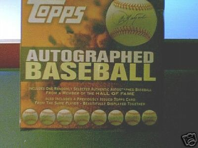 2006 Topps Autograph Baseball Factory Sealed Hobby Box ( 1 Original Autographed Baseball Per Box, Includes PSA Certificate of Authenticity)