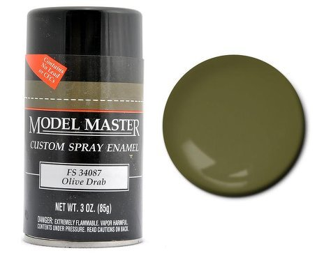 TES1911 Olive Drab Testors Model Master Enamel Spray Paint 3 oz can (Olive Drab Spray Paint compare prices)