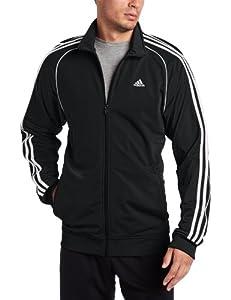 adidas Men's Layup Jacket, Black/White, X-Large