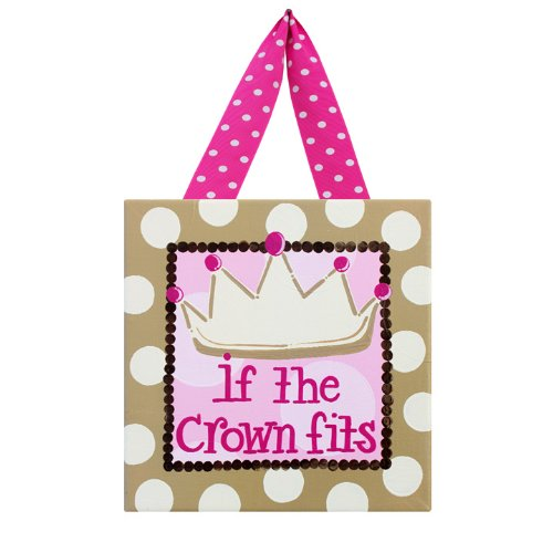 If The Crown Fits: Children'S Canvas Wall Art For Girl'S Bedroom, Dance Studio, Princess Lovers, Or Diva Dorm Room