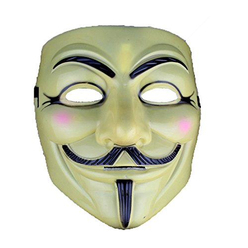 V for Vendetta Mask Half Face Mask Masquerade Men Movie Theme V For Vendetta Mask#2