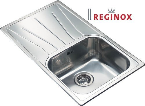 Inset Kitchen Sink 1 Bowl With Reversible Drainer (Diplomat 10) Brushed Finish