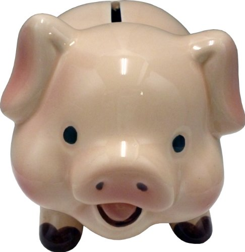 ブタ貯金箱 / 笑顔がかわいい! / セラミック製