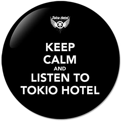 Keep Calm And Listen To Tokio Hotel #1 Music Collection Bottle Opener Round Button Badges With Refrigerator Magnet, NEW 2.25 Inch (58mm)