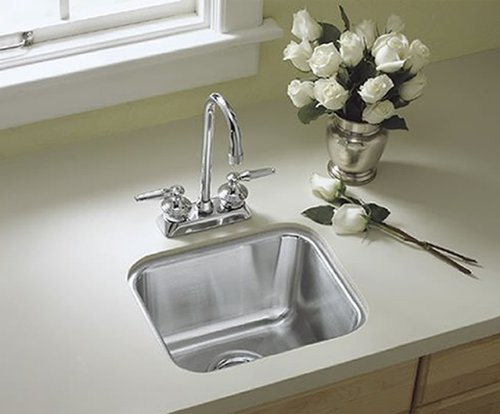 Sterling Ucl1515 Springdale 14-Inch By 12-Inch Under-Mount Single Bowl Bar Sink, Stainless Steel