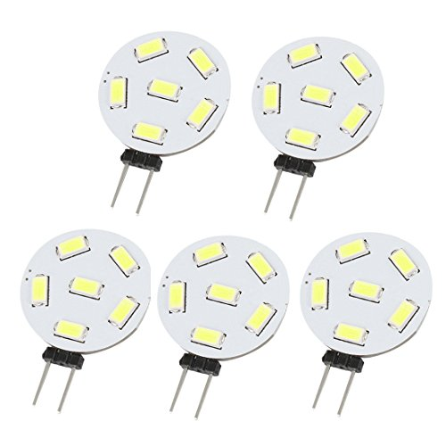 Dc 10-30V 1W G4 White 5730 Smd 6 Led 230Lm Energy Saving Light 5 Pcs