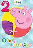 Peppa Pig Edad 2 tarjeta de cumpleaños