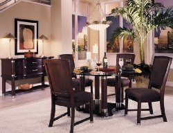 Furniture Klaussner Nouveau Round Table Dining Set With Sideboard B0017LVY10
