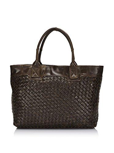 Lisa Minardi Women's Leather Shoulder Bag, Fango
