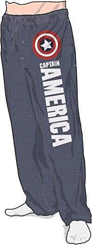 Men's Marvel Captain America Pajama Pants Blue Medium (Marvel Superheroes Pajamas compare prices)