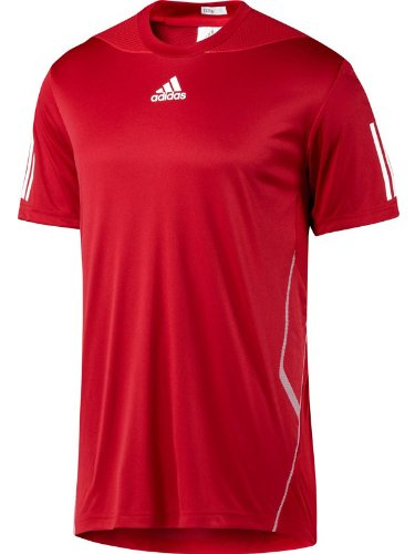 Adidas Barricade Mens ClimaCool Formotion Tennis T Shirt - Red - V92742