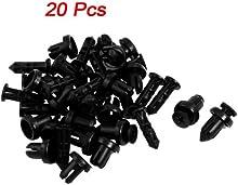 Comprar 20Pcs 9mm Orificio De presión Extensibles Tornillo Clips Del Panel Remache De Plástico Negro