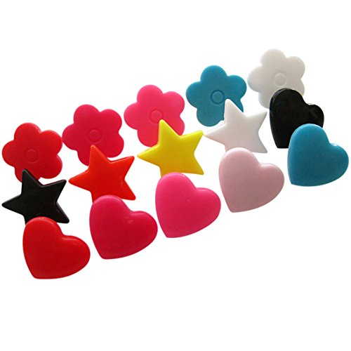 Kam Snaps Flowers Hearts Stars Plastic Snaps No-Sew ...
