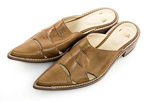 Scarpe donna FRU.IT N.36 cuoio sandalo basso in pelle a punta X2473