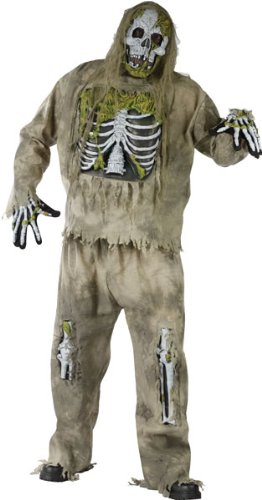 Plus Size Skeleton Zombie Costume