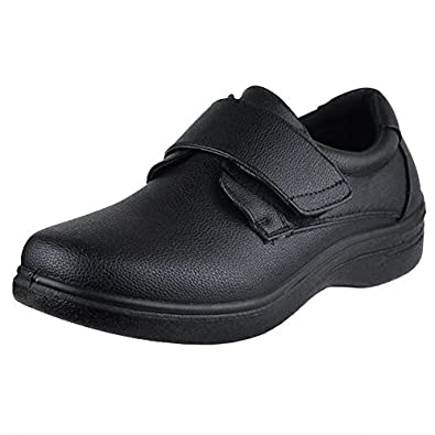 mens dress shoes velcro closure walking casual