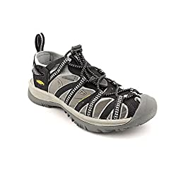Keen Women's Whisper Sandal,Black/Neutral Gray,US 7 M