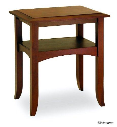 Cheap Antique Walnut End Table With Shelf (AZ84-18945–3)