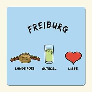 die stadtmeister Untersetzer ''Freiburg: Lange Rote-Gutedel-Liebe''