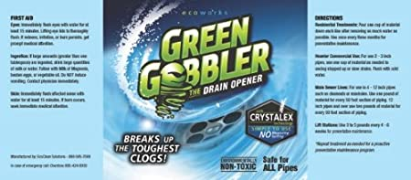 Drano Toilet Clogged Green Gobbler Pro With Crystalex