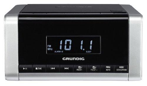 Grundig GKR1910 Radiosveglia con Lettore CD Compatibile 5690 SPCD, Nero/Silver [Francia]