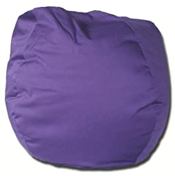 Twill Bean Bag Chair in Purple