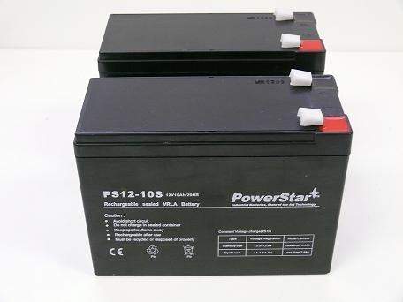PowerStar® 12V 10AH SLA Battery for Electric Scooter Schwinn S180 / Mongoose - 2PK