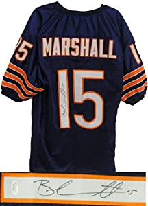 Brandon Marshall signed Chicago Bears Navy Prostyle Jersey- JSA Hologram by Athlon Sports Collectibles
