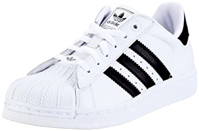 adidas originals boy 39 s white black superstar 2 k trainers 2 5 uk. Black Bedroom Furniture Sets. Home Design Ideas