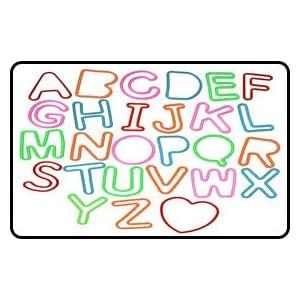 Zany Bandz Shaped Rubber Bands 37Pack Alphabandz