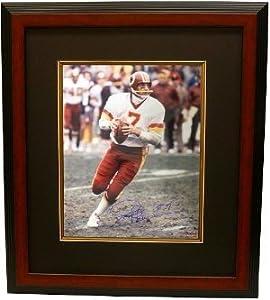 Joe Theismann signed Washington Redskins 16x20 Photo Custom Framed