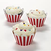 Red Striped Cupcake Wrappers