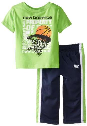 New Balance Baby-Boys Infant Graphic Print T-Shirt And Sport Pants, Assorted, 24 Months