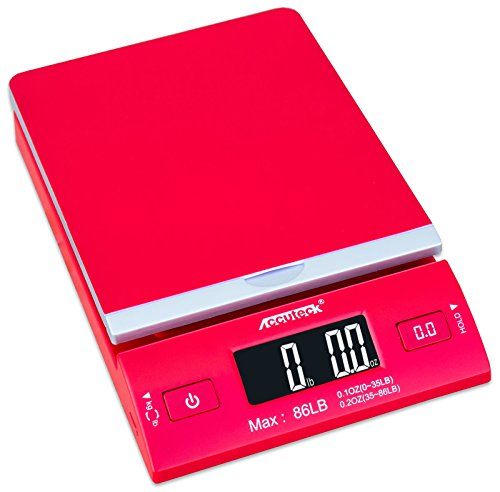 Accuteck DreamRed 86 Lbs Digital Postal Scale Shipping Scale Postage With USB&AC Adapter, Limited Edition (Accuteck Digital Postal Scale compare prices)