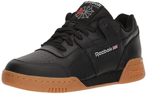 Reebok Men's Workout Plus Cross Trainer, Black/Carbon/Classic red, 12 M US