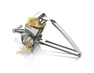 Boska Holland Monaco Collection Romano Stainless Steel Rotary Cheese Grater by Boska Holland