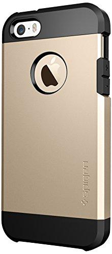 国内正規品 (二重構造) 強力保護 Spigen iPhone 5s / 5 ケース タフ・アーマー (エアクッションテクノロジー) [シャンパンゴールド] SGP10584
