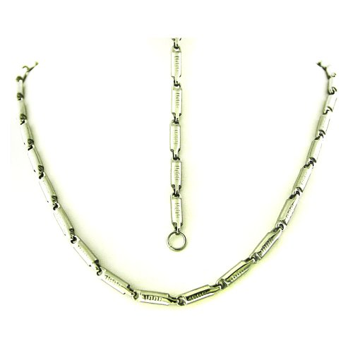 Men's Stainless Steel Silver Tone Link Bracelet 8.5