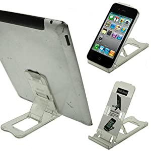 LUPO Universal Foldable Plastic Desk Stand for all iPad's, iPhone's, Tablets and Smartphones (Transparent)