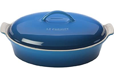 Le Creuset Stoneware 4-Quart Covered Oval Casserole, Marseille