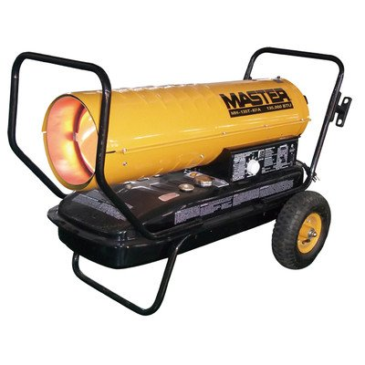 Master MH-135T-KFA Kerosene Forced Air Heater with Thermostat, 135,000 BTU (Sq One Mall Hours)