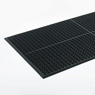 Crown Safewalk Light Heavy Duty Antifatigue Mat Rubber 36 X 60 Black WSCT