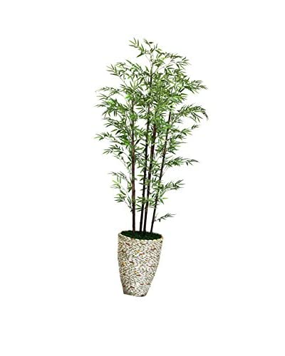 "Laura Ashley 86"" Black Bamboo Tree in a 16"" Planter"