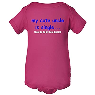 My New Uncle Is Single, Want To Be My New Auntie? One Piece Romper Baby Bodysuit