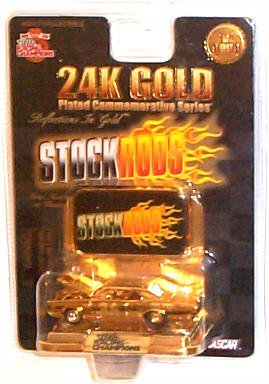 Racing Champions - Limited Edition 24K Gold Plated Commemorative Series NASCAR StockRods - M&M's #36 - 1
