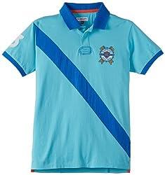 US Polo Association Boys Blue Polo Shirt (